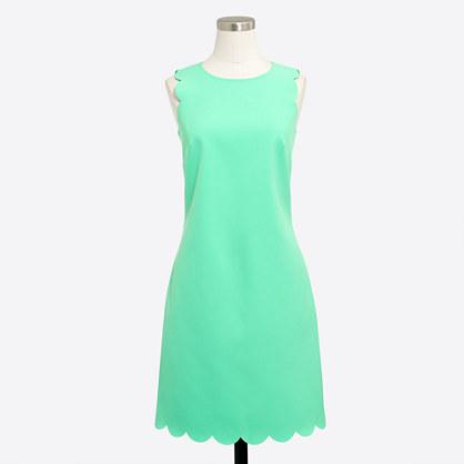 Scalloped shift dress