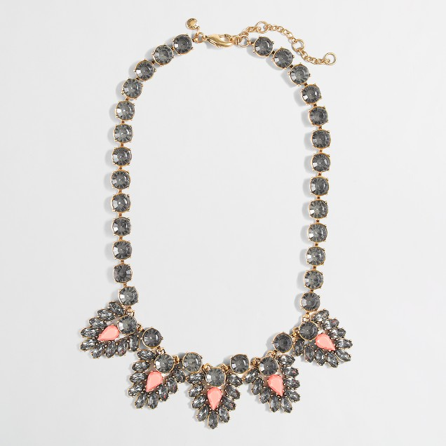 Factory jeweled triangle necklace