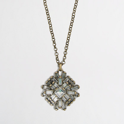 Factory layered crystal pendant necklace