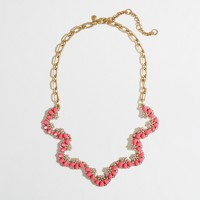 Factory scalloped stone necklace