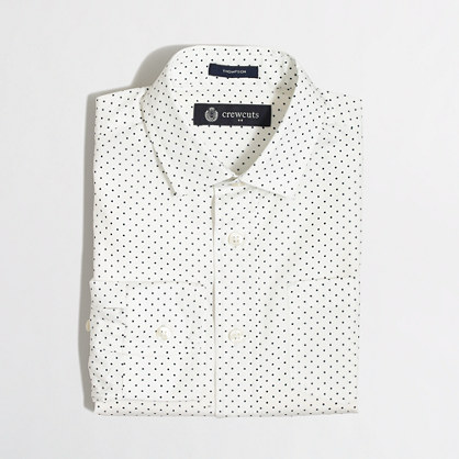 Factory boys' patterned Thompson spread-collar dress shirt