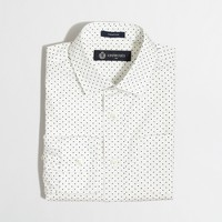Factory boys' patterned Thompson spread-collar dress shirt