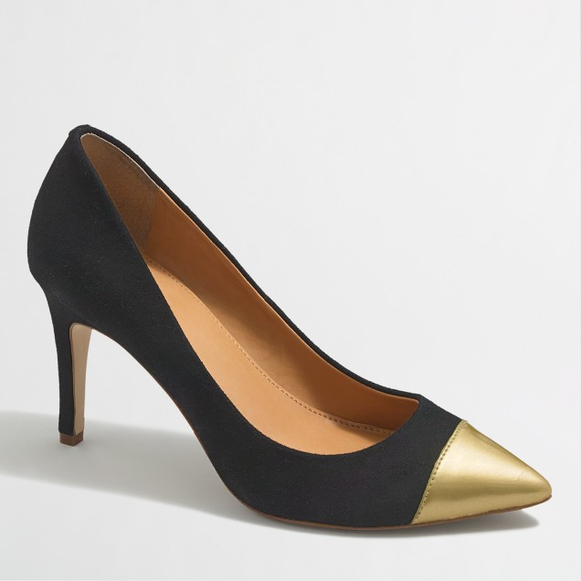 Factory Isabelle cap toe pumps