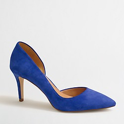 Factory suede d'Orsay pumps