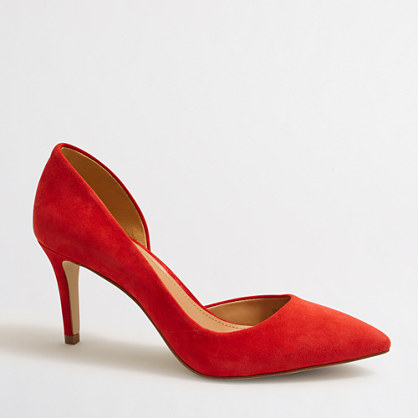 Suede d'Orsay pumps