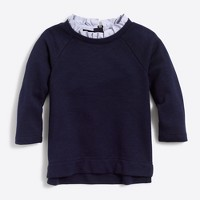Girls' ruffled-collar sweatshirt