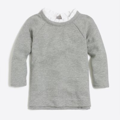 Girls' ruffled-collar sweatshirt