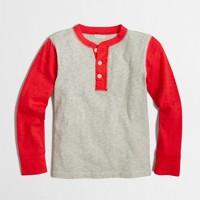 Boys' contrast-sleeve henley