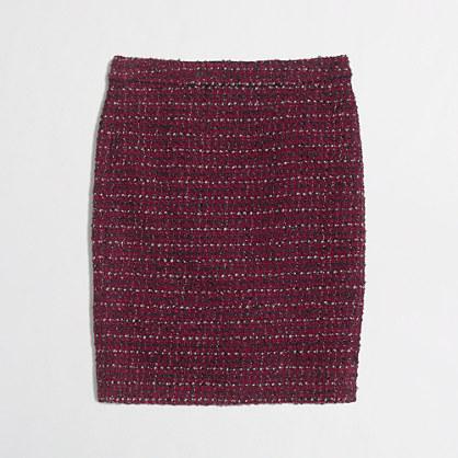 Factory pencil skirt in tweed