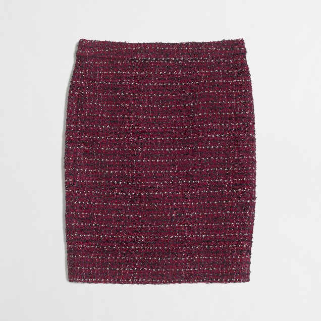Factory pencil skirt in tweed
