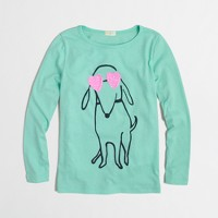 Factory girls' long-sleeve dog love keepsake tee