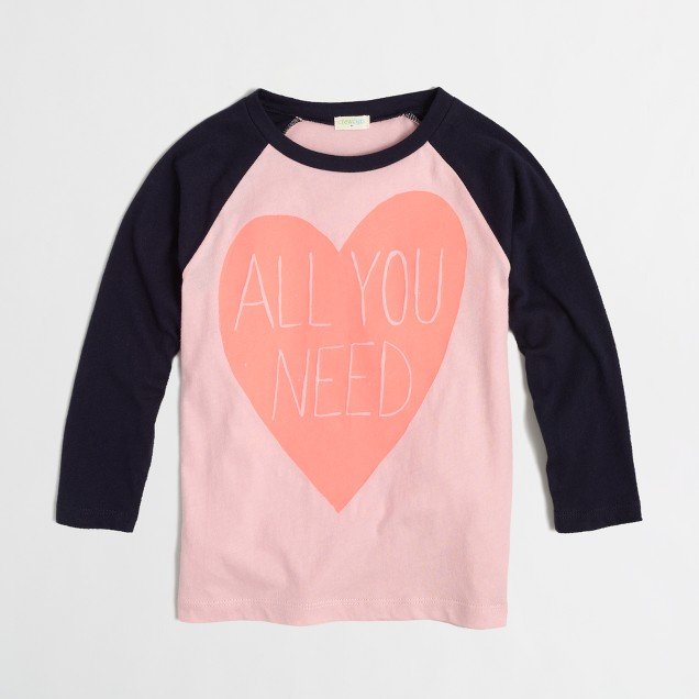 Factory girls' all you need baseball keepsake tee