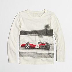 Boys' long-sleeve racecar storybook T-shirt