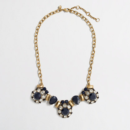 Factory triple stone cluster necklace