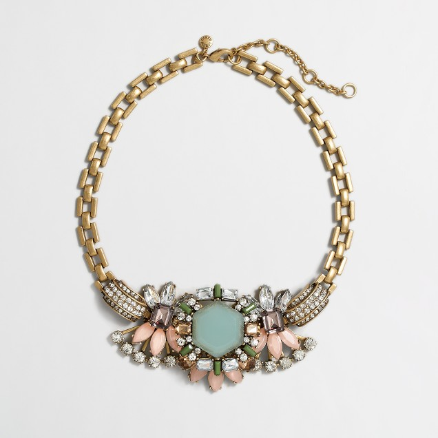 Factory aqua centerpiece necklace