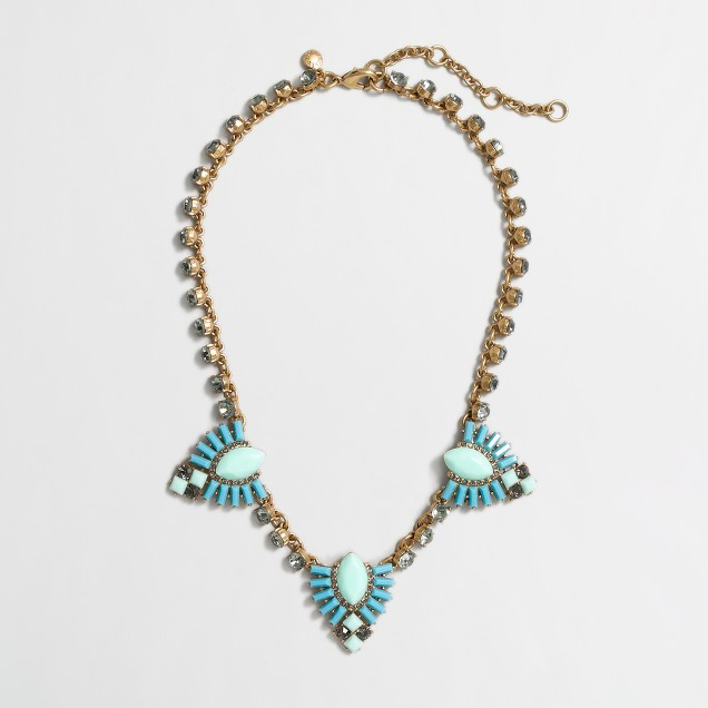 Factory stone and crystal arrow necklace