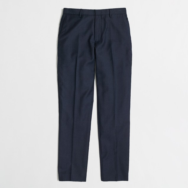 Slim Thompson suit pant in wool flannel