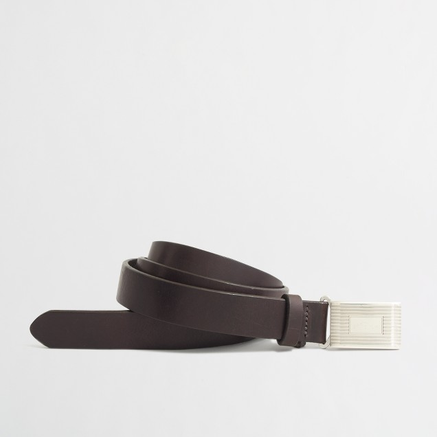 Lleather plaque belt