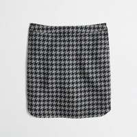 Factory shirttail mini in houndstooth