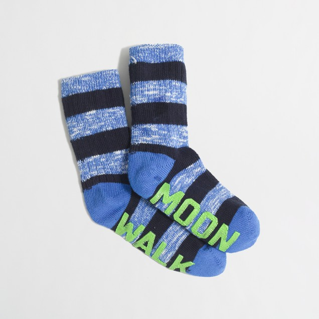 Boys' grip-and-glow socks