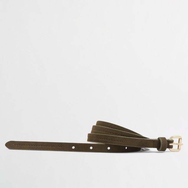 Factory skinny middle-stitch belt