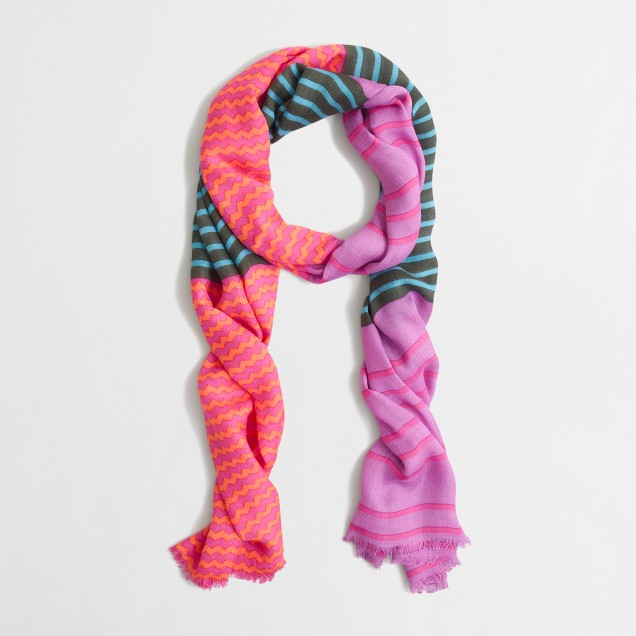 Factory chevron stripe scarf