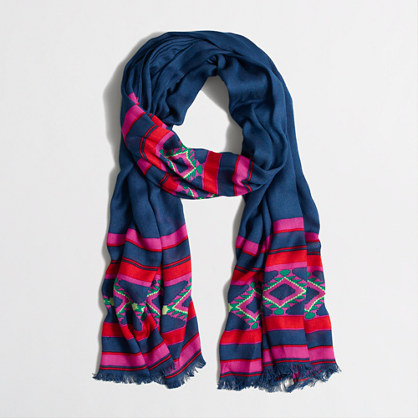 Factory pink stripe scarf