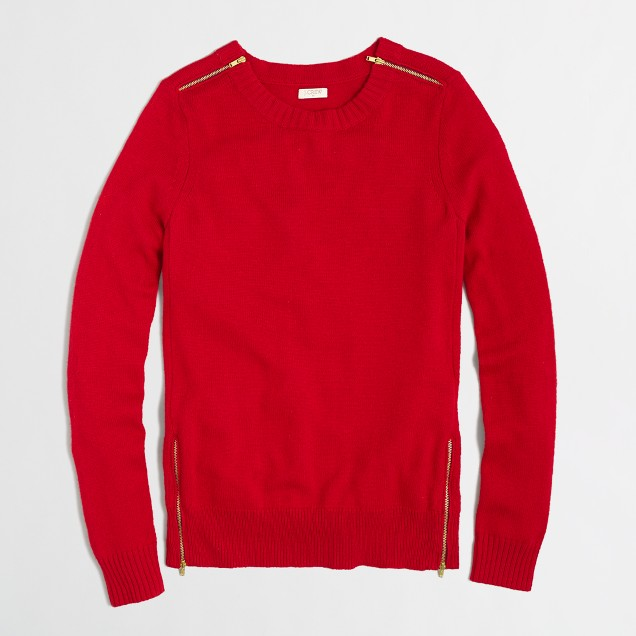 Factory warmspun zip sweater