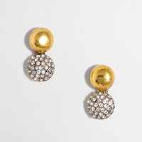 Factory sparkle drop stud earrings