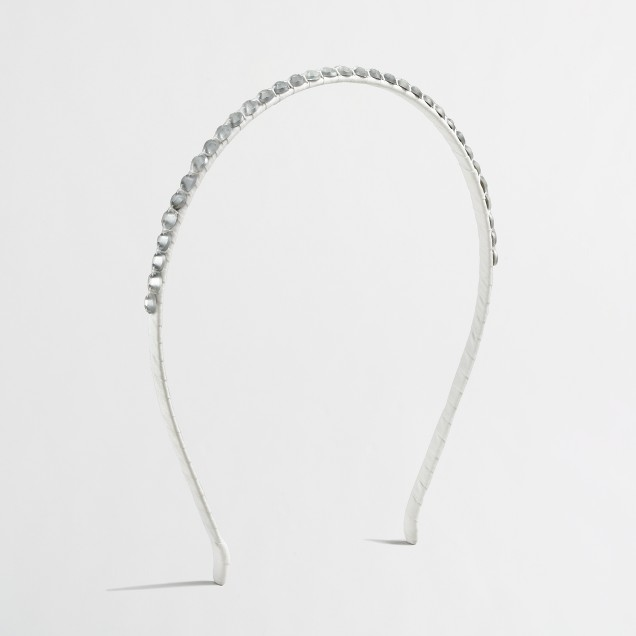Factory girls' tiny stone headband