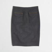 Factory pocket pencil skirt