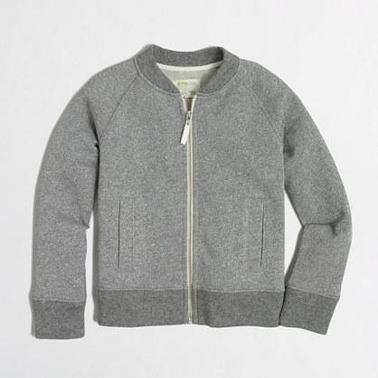Factory girls' sparkle fleece jacket