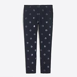 Girls' leggings in glitter dots