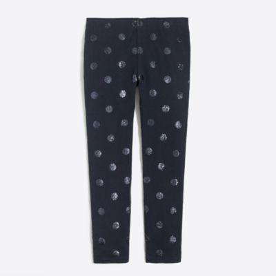 Girls' leggings in glitter dots