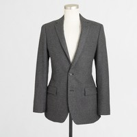 Factory Thompson suit jacket with double vent in houndstooth
