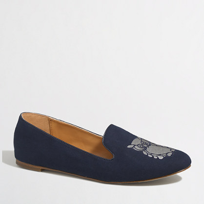 Factory Addie owl loafers