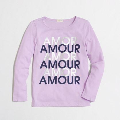 Factory girls' long-sleeve amour keepsake tee