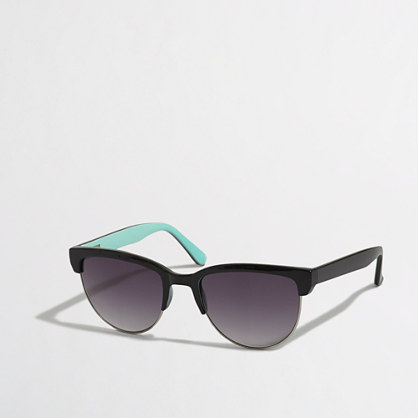 Factory half-frame sunglasses