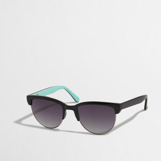 Factory half-frame sunglasses