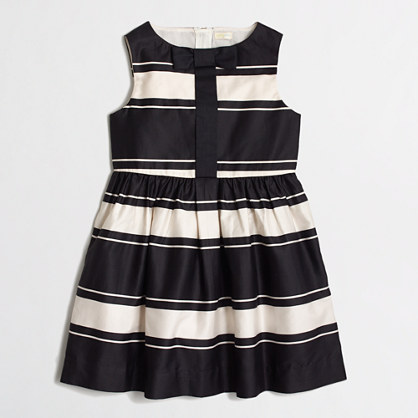 Factory girls' stripe sateen dress