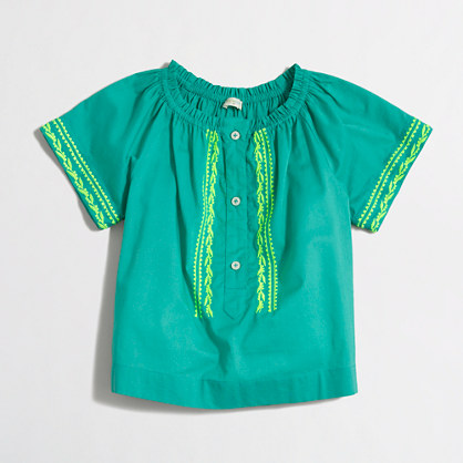 Girls' embroidered top