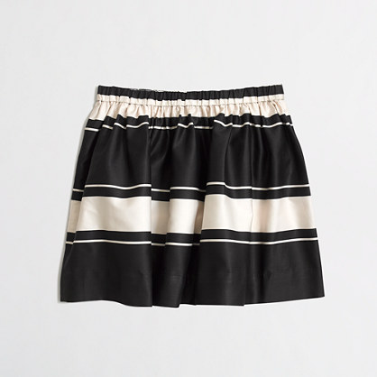 Factory girls' stripe sateen skirt