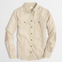 Factory classic button-down elbow-patch shirt in flannel