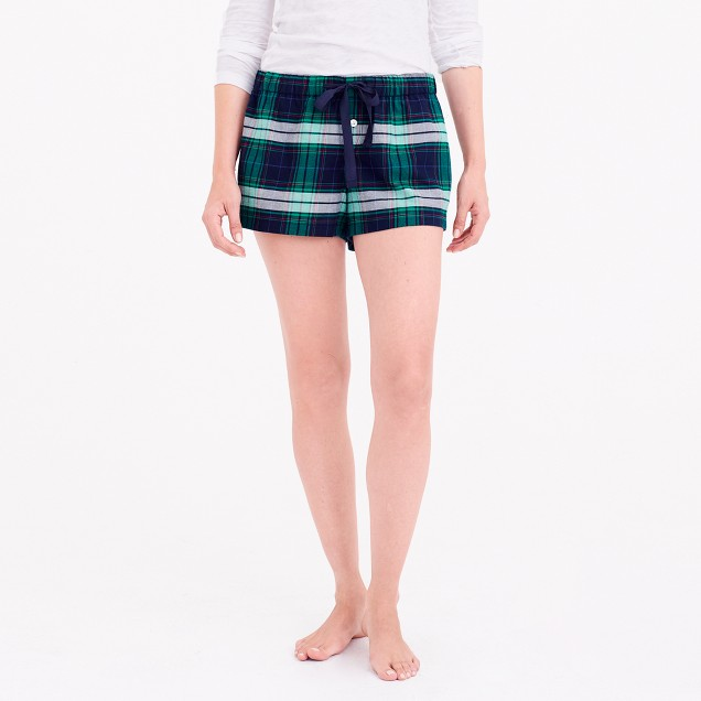 Flannel pajama short