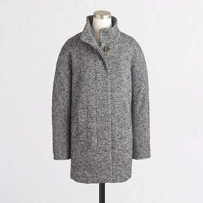 Factory tweed city coat