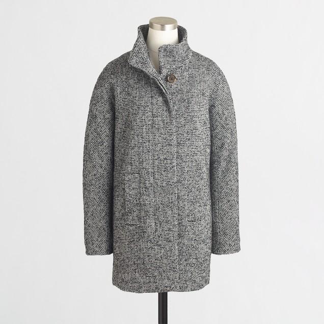 Factory tweed city coat