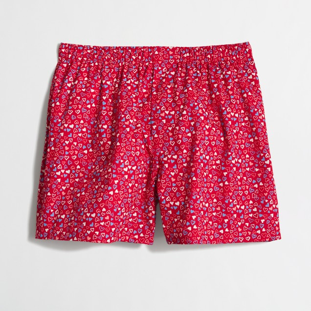 Factory tossed hearts boxers