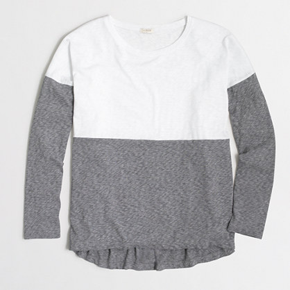 Colorblock shirt in airy cotton