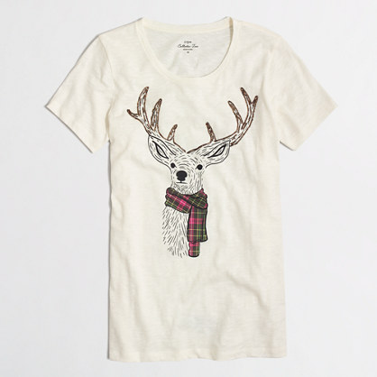 Reindeer scarf collector T-shirt