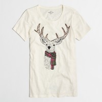 Reindeer scarf collector T-shirt
